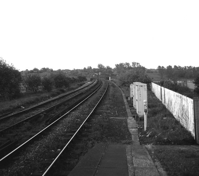 View south from Radcliffe station