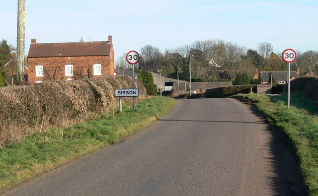 Sheepy Road in Sibson, Leicestershire