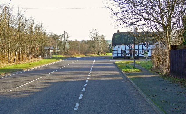 A444 Twycross Road in Sibson, Leicestershire