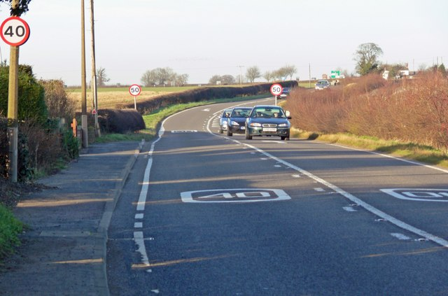 A444 Twycross Road north of Sibson