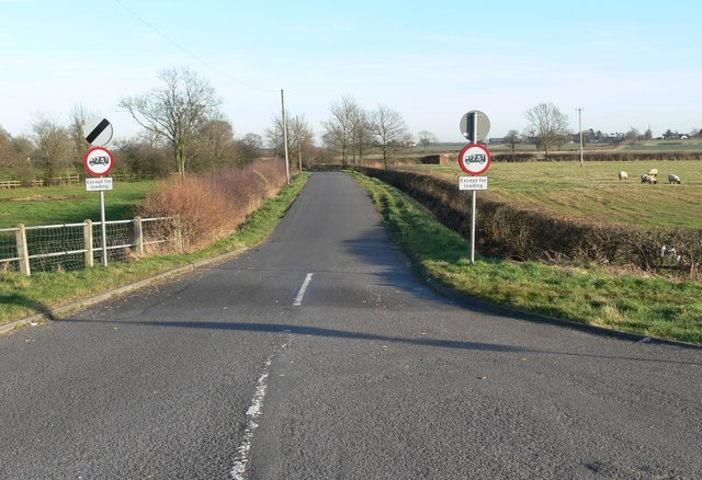 Shenton Lane near Sibson in Leicestershire