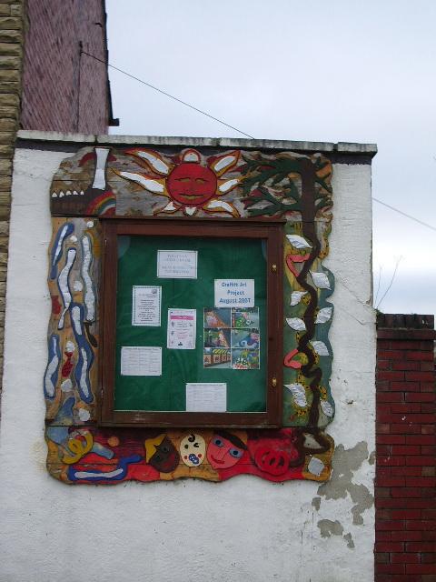 Clayton-le-Moors Community Youth Club, Notice board
