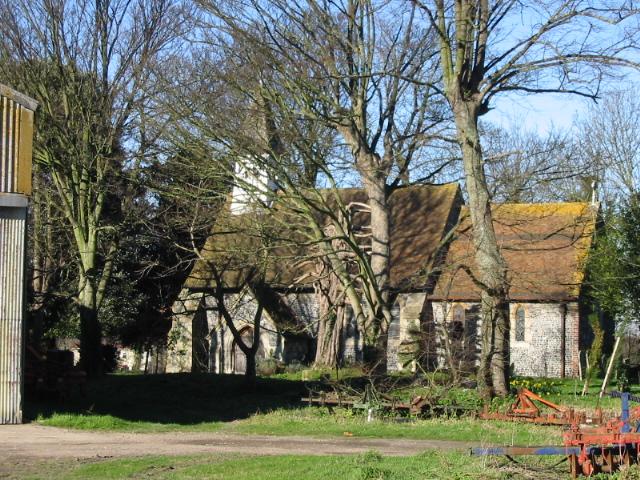 Ham church amongst the trees