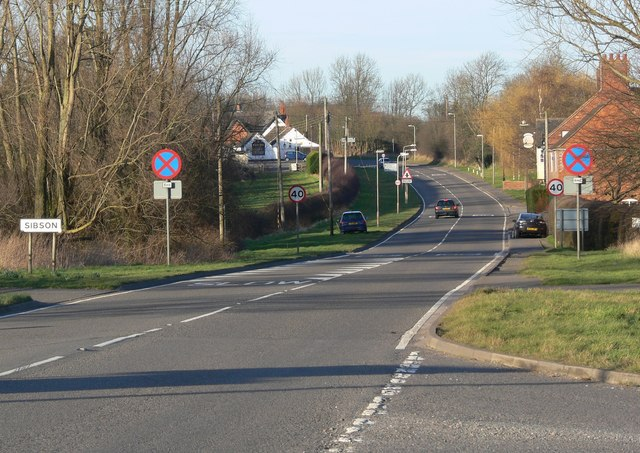 Twycross Road towards Sibson, Leicestershire
