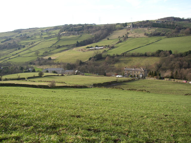 View of the Black Brook valley, Stainland