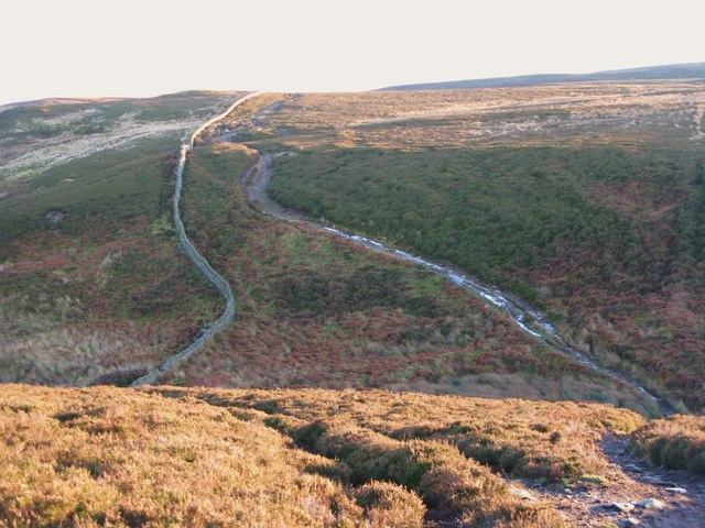 The track across Knight's Cleugh