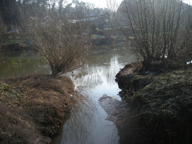 Stream flowing into the River Severn