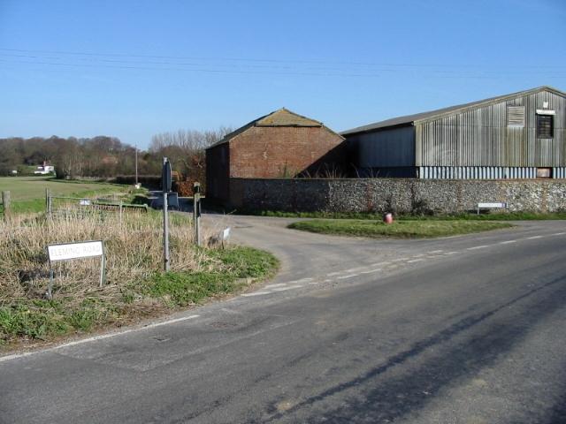 Ringlemere Farm on junction of Fleming Lane and Ringlemere Lane