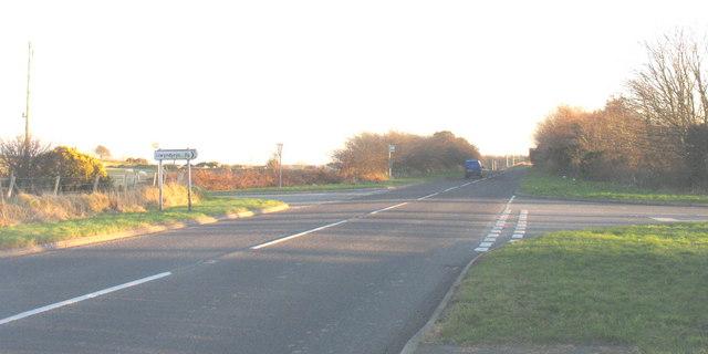The A499 at the Llwyndyrys turnoff