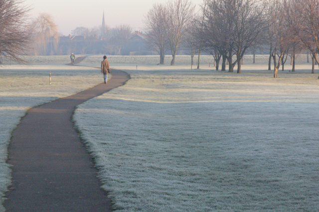 Frosty morning. Chilwell Manor golf course