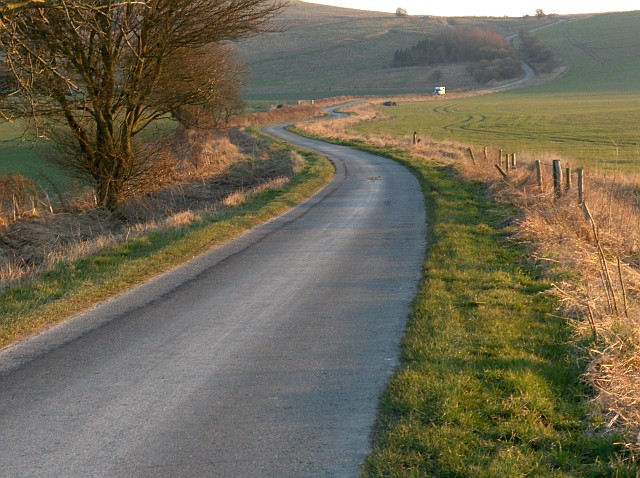 Road below Barbury Castle