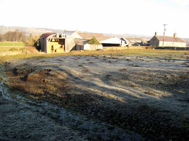 High Town Farm on a frosty morning