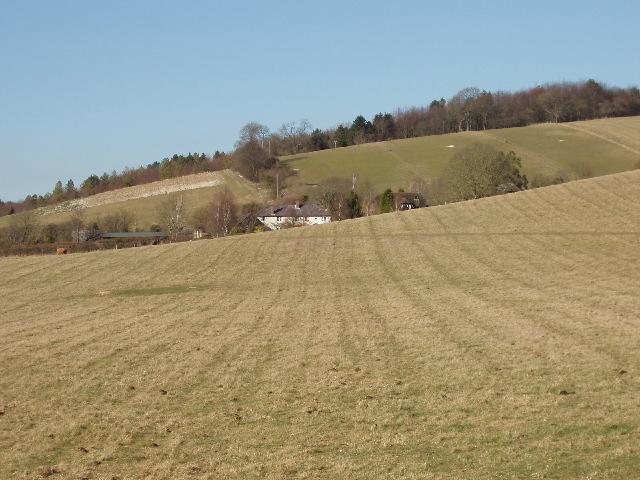 Fields around Harecramp Cottages above Fingest