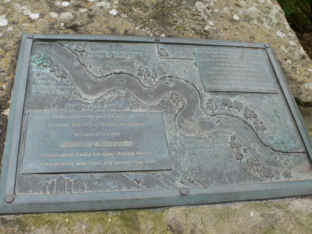 Footbridge plaque, Pontblyddyn