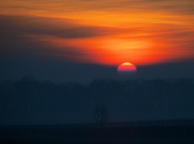 Sunrise over Doncaster