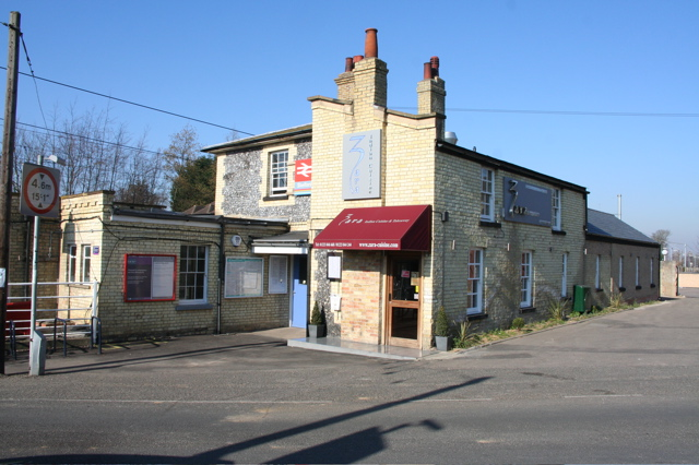 Part of the Great Shelford Station buildings now a restaurant