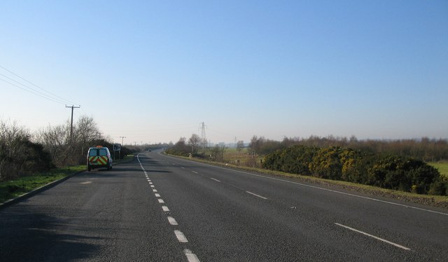 The A75 near Birkhill