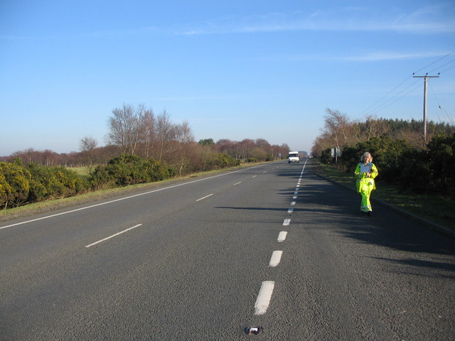 Layby on the A75 near Birkhill