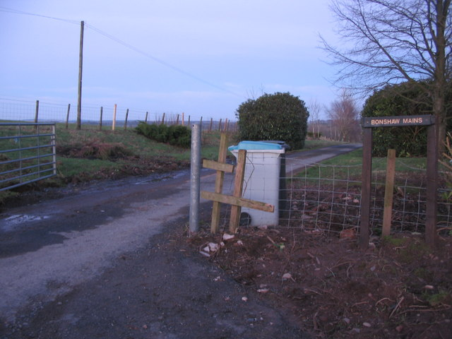 Entrance to Bonshaw Mains