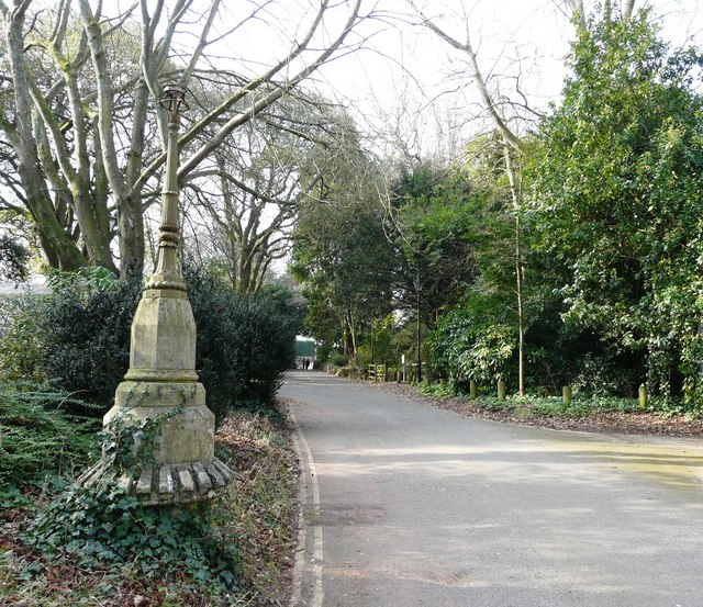 Oldway mansion, Paignton, ancient lamp post