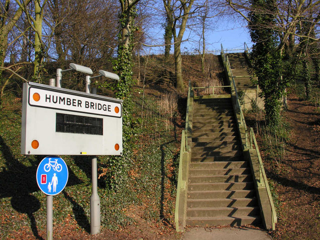 Steps to the Humber Bridge (north west end)