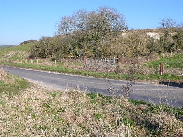 Chalk pit near Lulworth