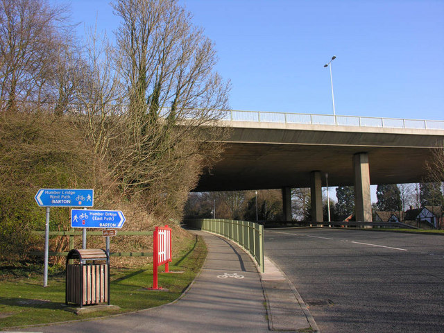Service Road under Humber Bridge