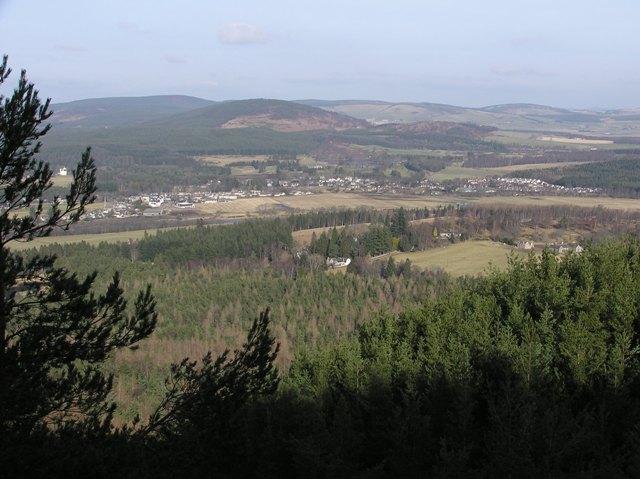 Birsemore and Aboyne from Birsemore Hill