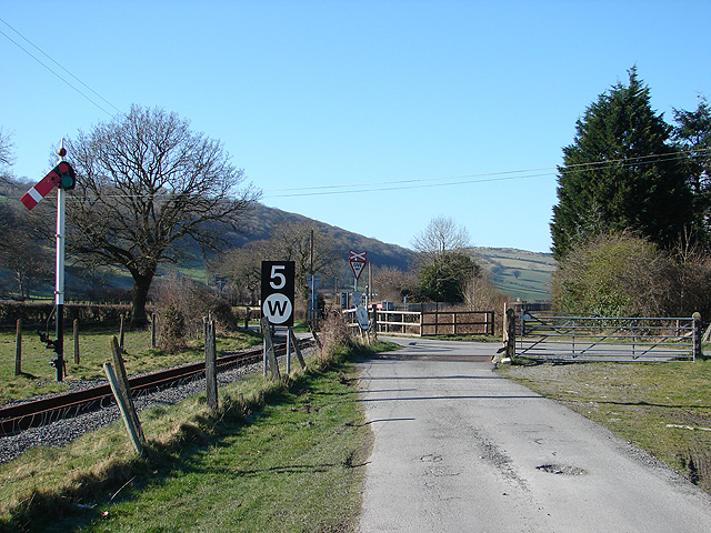 The track from Rhiwarthen