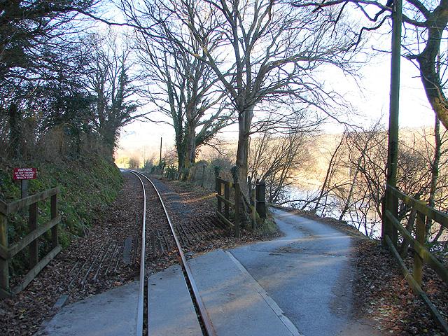 Vale of Rheidol Railway crossing