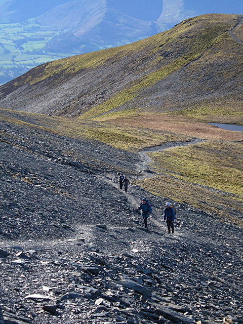 A steep ascent of Skiddaw