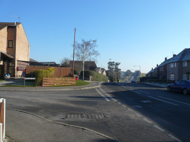 Whittington Road - View from junction with Highland Road