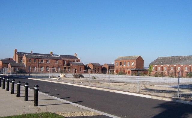 Disused buildings at  Priddys Hard