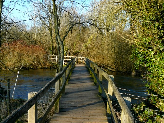 Wherwell - Footbridge Over the River Test