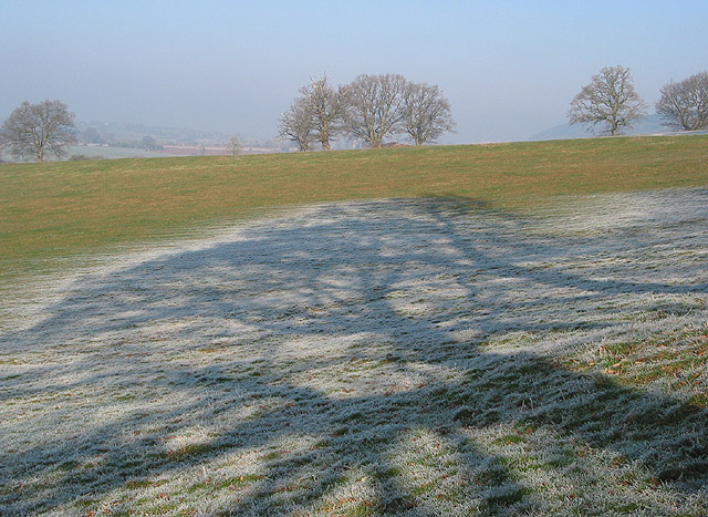 Frost in the shadows