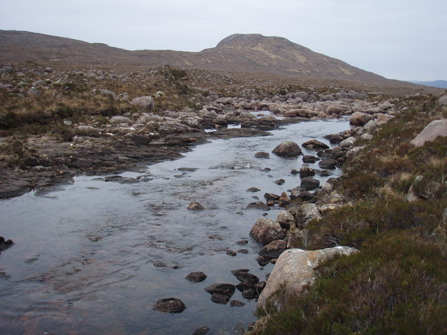 River Talladale before the falls