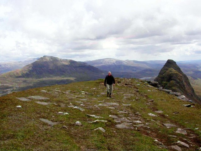 Approach to Caisteal Liath summit, Suilven