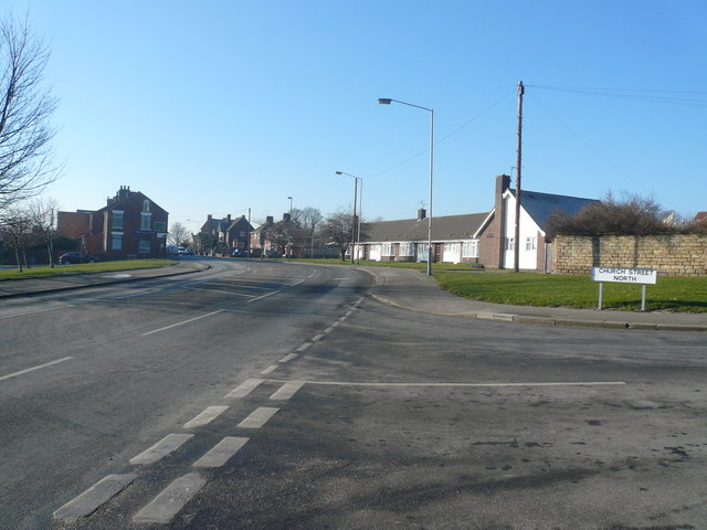 Old Whittington - B6052 junction with Church Street North