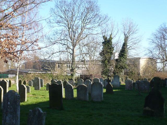 Queen Elizabeth Grammar School from the churchyard
