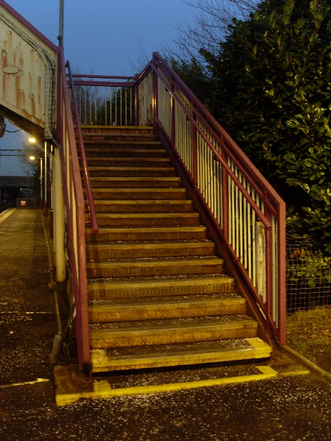 Stairs to other platform at Drumry Station