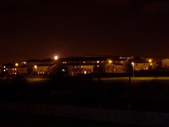 Drumry at night