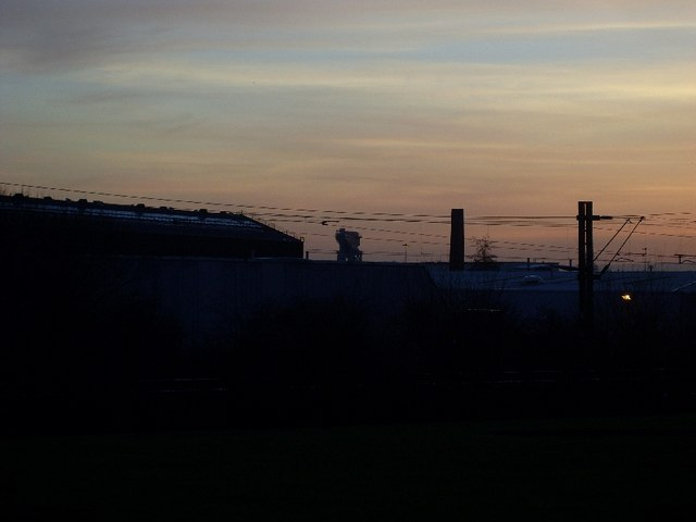 View to Clydebank Titan Crane from Drumry