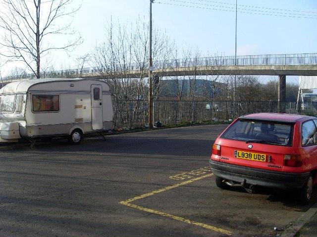 Footbridge over the M8