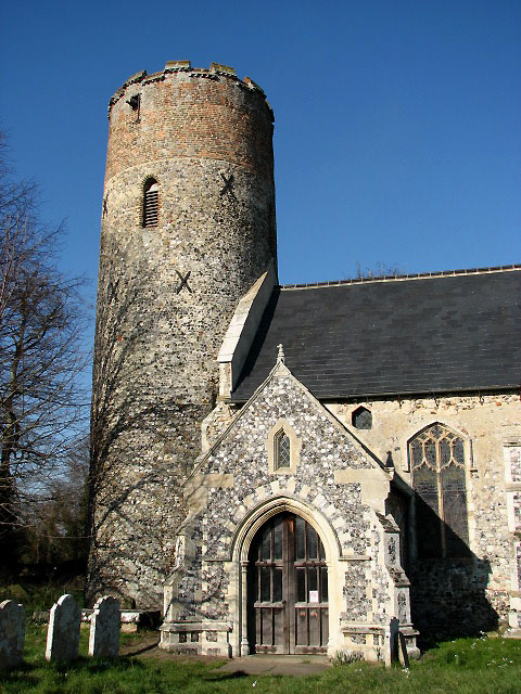 The church of SS Peter and Paul in Burgh Castle