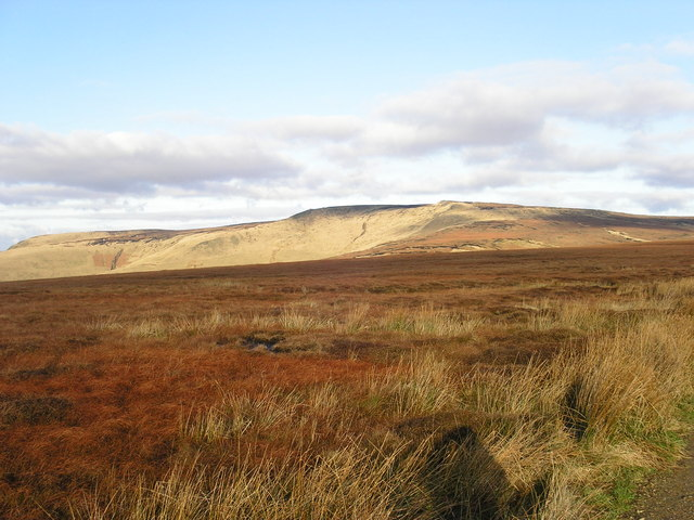 View of Gathering Hill and Shelf Moor from Pennine Way