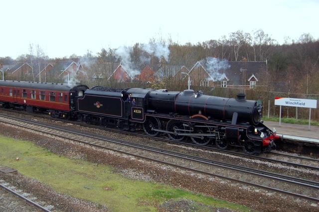 Steam Train at Winchfield Station