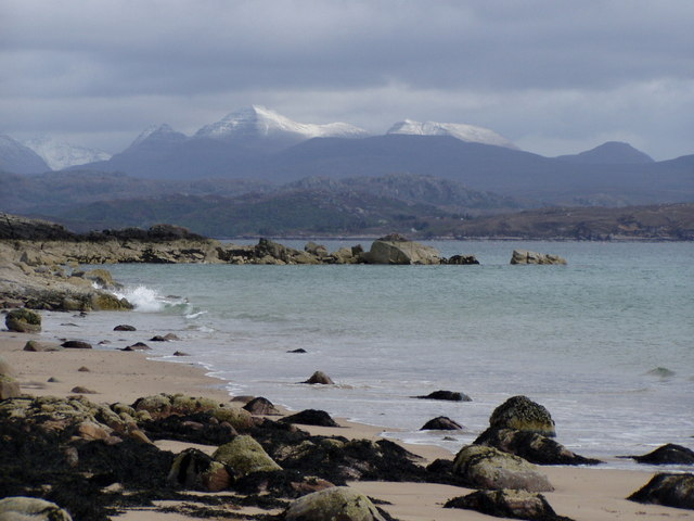 View of Torridon from Big Sand Beach, Gairloch