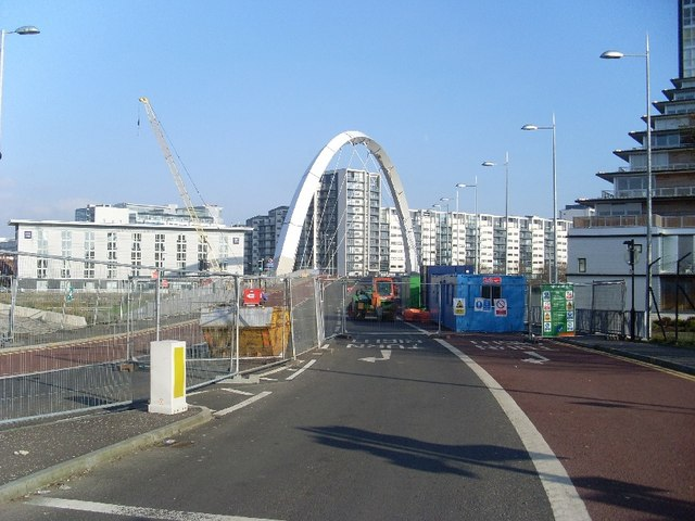 The closed Clyde Arc, Glasgow