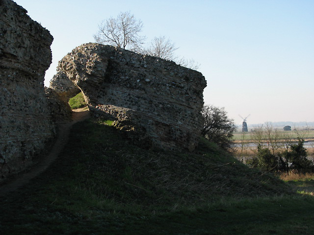 The Roman fort of Gariannonum - north wall