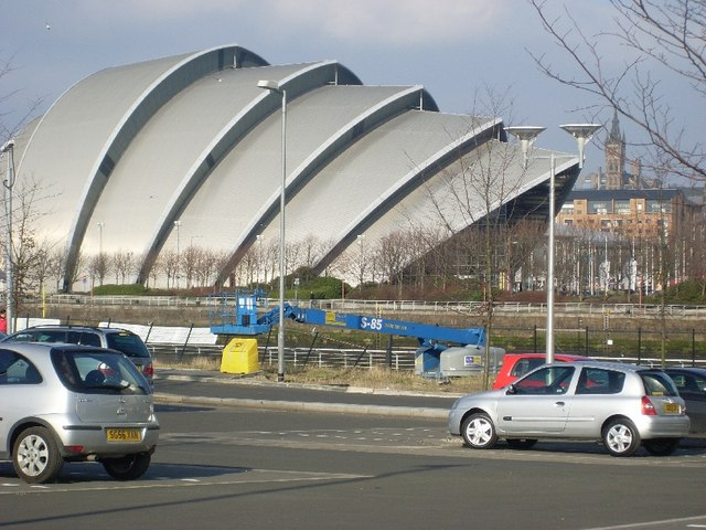 Clyde Auditorium from south of the River Clyde